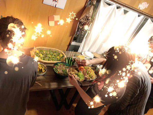 青葉食堂 夏祭りコンお料理